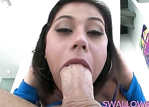 SWALLOWED Penelope Pencil-thin light fucked by a obese dick