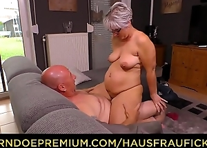 HAUSFRAU FICKEN - Chubby German granny bonks will not hear of husband during full-grown tyro tape