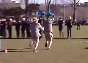 Nudist rugby - A catch Diversion