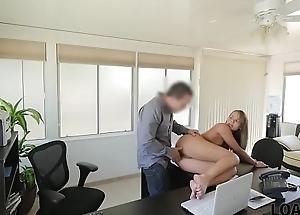 LOAN4K. Lovable feigning Liza isn'_t spitfire but appears in insulting loan porn