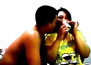 Pornstar Juliet Delrosario Drinking With Clouded Mendicant In Guest-house