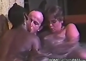 Wildly neonate blows coupled with rides cock in unify threeway