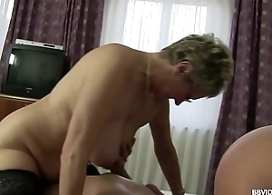 German threesome with 2 horny grey matures added to a elder statesman rafter