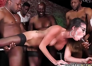 Dava Foxx Interracial Group sex