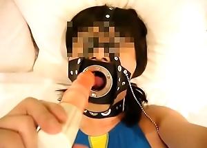 japanese crossdresser swimswit mouth gag1