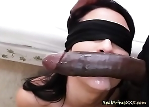Titillating Spitfire Katrina Gouge out Swallows A Monster Cock