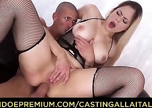 CASTING ALLA ITALIANA - Naughty blonde Italian slut Vittoria Dolce goes be required of ass screwing