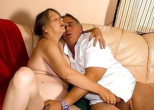 XXX OMAS - Putrid German granny enjoys hot permanent fuck added to mouth creampie