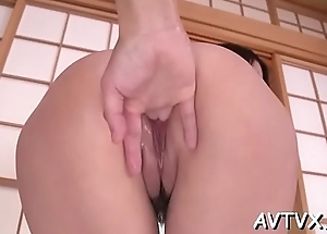 Charming asian sweetheart arouses with bedraggled oral-job