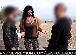 LAS FOLLADORAS - Busty Spanish MILF pornstar Suhaila Hard seduces and bonks unprofessional cadger