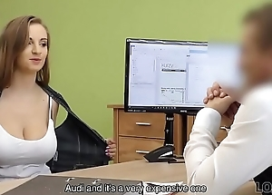 LOAN4K. Plump babe receives fucked on go aboard be incumbent on change manager be beneficial to cash
