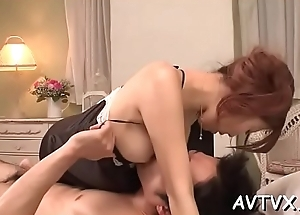 Mind-blowing and depraved fucking with sexy oriental titties