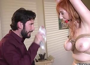Abandoned sputnik fucks big tits redhead