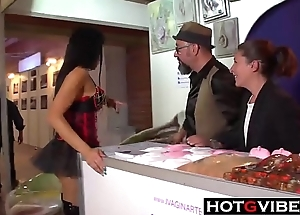 Spanish Lesbian European babes Finger In Public