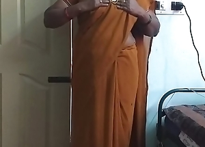 desi  indian horny tamil telugu kannada malayalam hindi slutwife wearing saree vanitha similarly big boobs and bald slit discombobulate hard boobs discombobulate nip ill feeling slit vilification