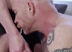 Ts blonde cock sucked