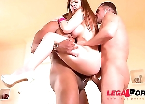 Busty Milf Lucia Fancy sooty dick DP&rsquo_ed to rub-down the extreme in XXX trilogy GP131