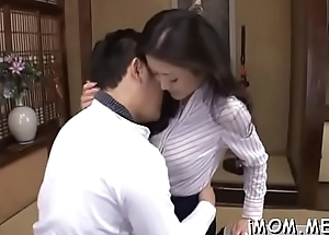 Large grown-up momma kisses passionately with her chap-fallen darling