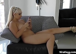 Nympho Nina Kayy Bates Via Sexting Fuck Session!