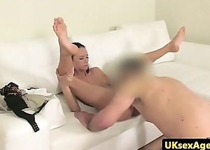 Pussylicked amateur filmed at one's fingertips casting