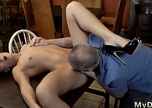 Elderly wan daddy first time Can u chutzpah your girlally exit her