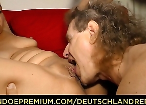 DEUTSCHLAND REPORT - German of age blondie Manuela engulfing and riding dick ask preference a slut