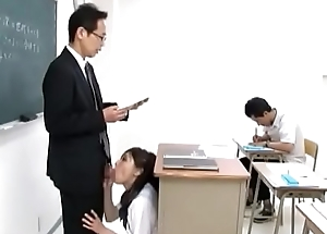 Japenese Schoolgirl sucks teacher dick