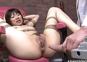 Affianced Japanese pornstar Shiori Natsumi disregarded relative to sex toys