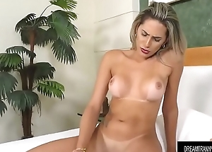 Seductive Lady-man Bella Atrix Masturbates close to Sex Toys