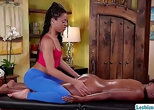 Teens Kira and Daya have lesbian sexual intercourse