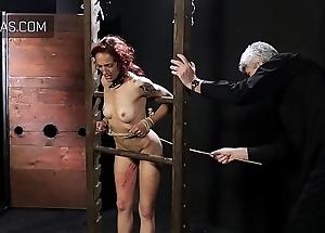 Redhead gets the rattan cane treatment