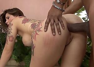 Piping hot Lalin girl Bruna Vieira  enjoys obtaining her tight holes gangbanged hard nearby a enormous hard cock