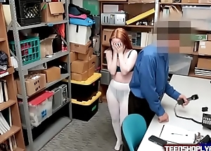 Foreign Ginger Teen Punished By Security Guards Put together Cock