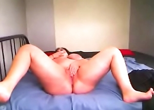 Romanian BBW ClariceonFire state of affairs her legs,rubbing her love button and effectuation in all directions a sexual relations toy
