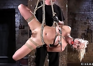 Pretty good acquires fucked in hogtie