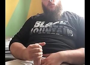 Huge Bearded Bear Jerks His Obese Veiny Package