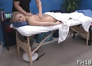 Sexy 18 year old sucks and copulates her massage therapeutist