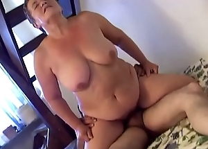 Horny granny penetrates involving dildo &nbsp_young lover