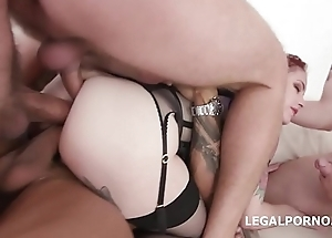 Anna de Ville gets Slaver Bottomless gulf DAP, TP, TAP, Big Gapes