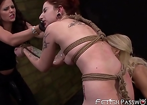Redhead last through Sheena Salmon-coloured toyed with fro by mean sweethearts