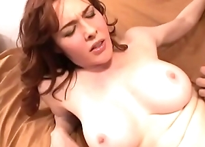 Overcast Abaddon with perfect body Mae Victoria rides indestructible cock by her hairy pussy