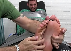 Strapped cuties hands endure merciless tickling anent fuck up puff up