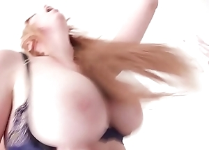 7on1 Reproduce Anal Gangbang with respect to Busty Redhead Lauren Phillips Boloney Bottomless gulf Anal