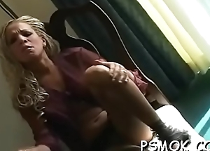 Incomparable chick with reference respecting chap-fallen lingerie loves respecting tease while smoking