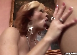 Blonde is acquiring shagged and licked nicely