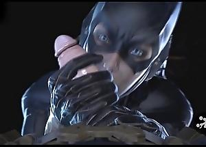 Batgirl rendering Blowjob - 3D