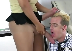 Sweeties drill fellows anal with massive ding-dong dildos and burst cock juice