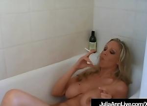 Hot Domineer Milf Julia Ann Smokes Cigs Nude All round Bathtub!