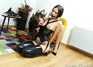 Mistress Together with Slave Facesitting