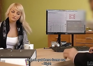 LOAN4K. Passionatre fucking on be imparted to murder table in office be useful to lodgings manager